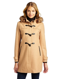 Tommy Hilfiger Women's Hooded Toggle Coat