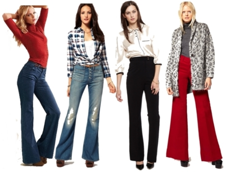 how to wear high-waisted flare jeans