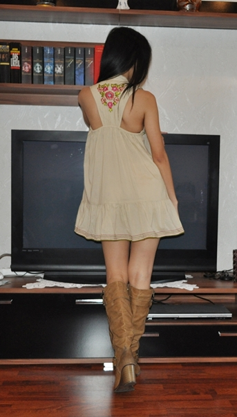 d9e69502df0a My Outfit  Indian Summer Dress with Brown Riding Boots