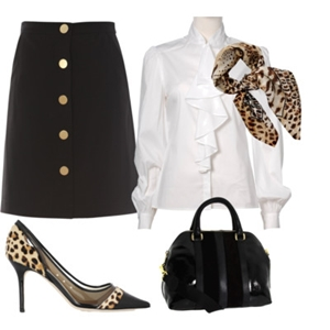 animal print to work outfit 10