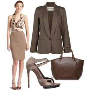 animal print to work outfit 11