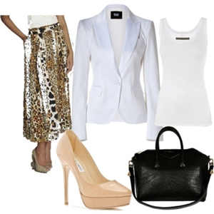 animal print to work outfit 2