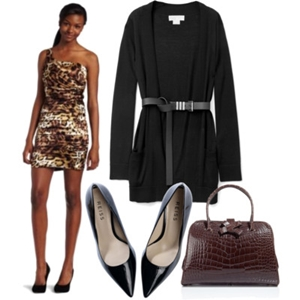 animal print to work outfit 3