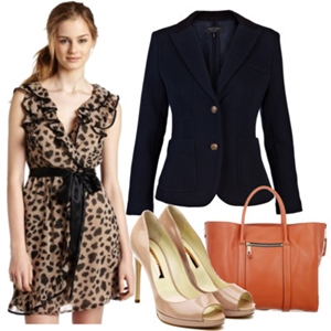 animal print to work outfit 4