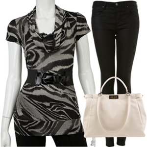 animal print to work outfit1