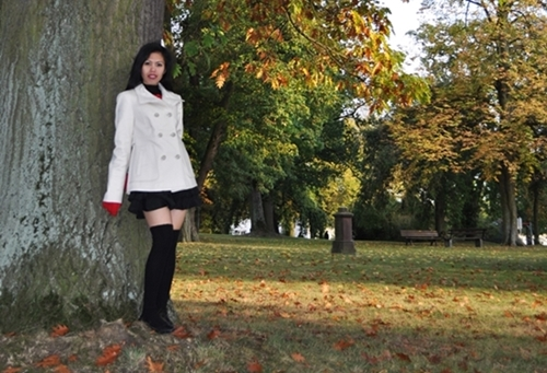 Ivory Double Breasted Trench Coat
