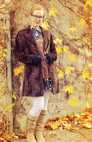 Vintage Mix with animal print coat
