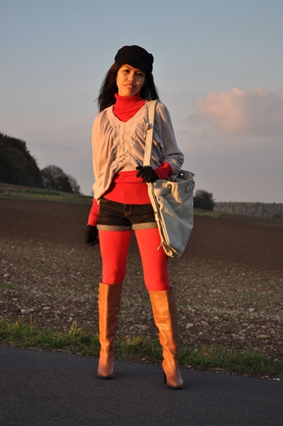 brown riding boots outfit