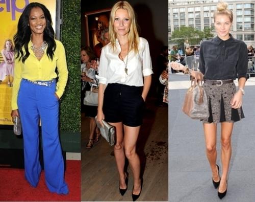 How celebrities wear button-down shirt