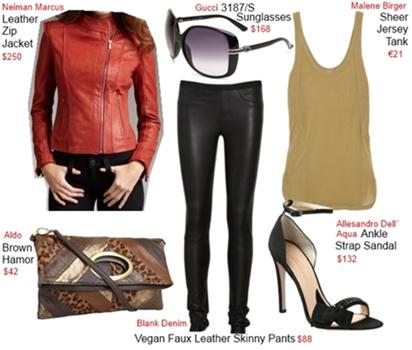 Rosie Huntington-Whiteley wear leather pants