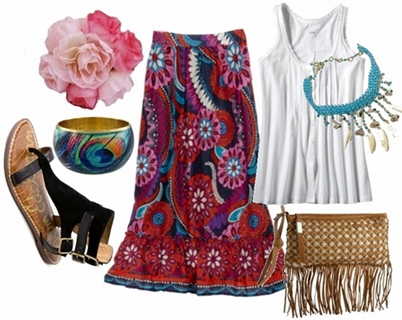 bohemian look outfit 2