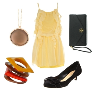 wear yellow dress to a casual wedding