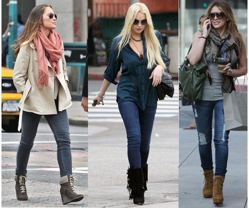 Celebrities Wear Skinny Jeans in Wedge