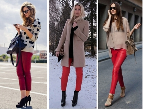 How to Wear Red Leather Pants