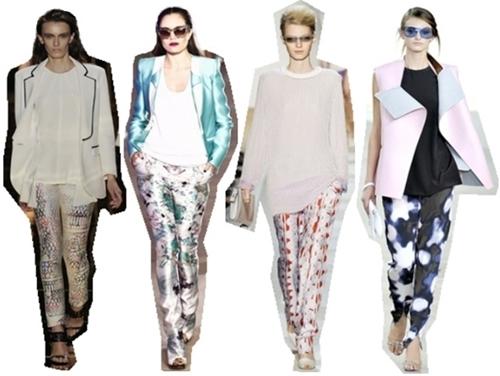 On Trend Printed Silk Pants