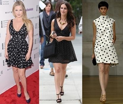 how to wear polka dot dress
