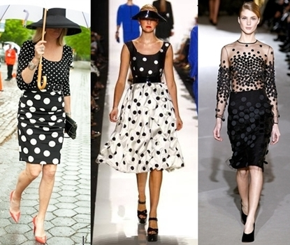 how to wear polka dots 2