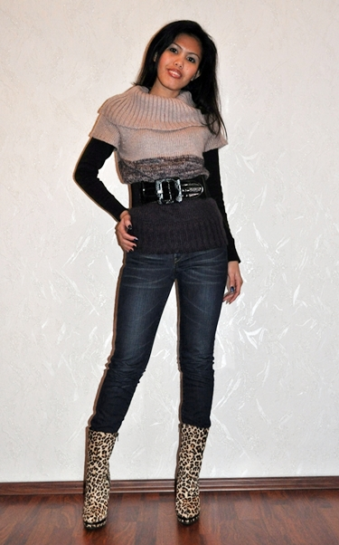 jeans in leopard print boots