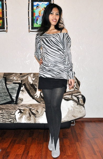 My Outfit Styling Zebra Print Top