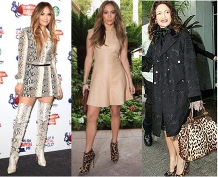 Jennifer Lopez Leopard Boots and Shoes