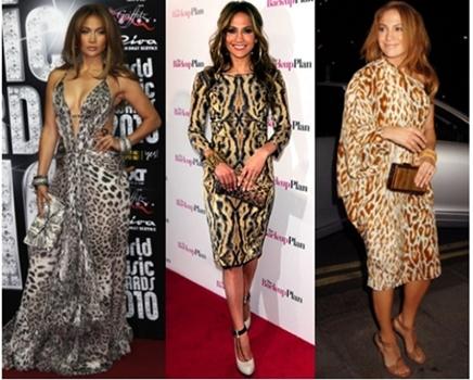 Jennifer Lopez Leopard Print Dresses