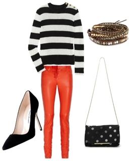 Wear Orange Colored Jeans
