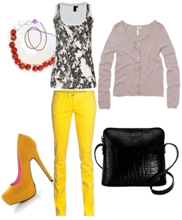 Wear Yellow Colored Jeans