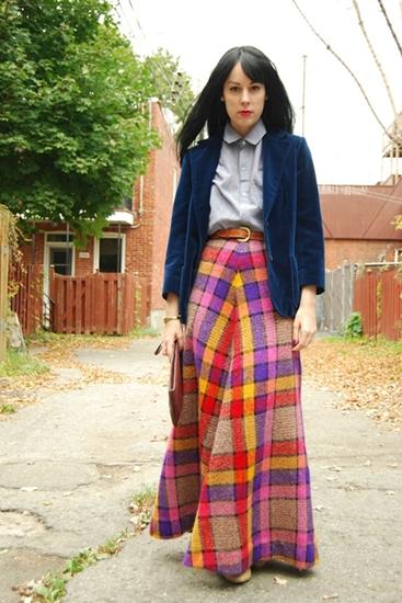 creative fashionista 5 Vintage velvet blazer