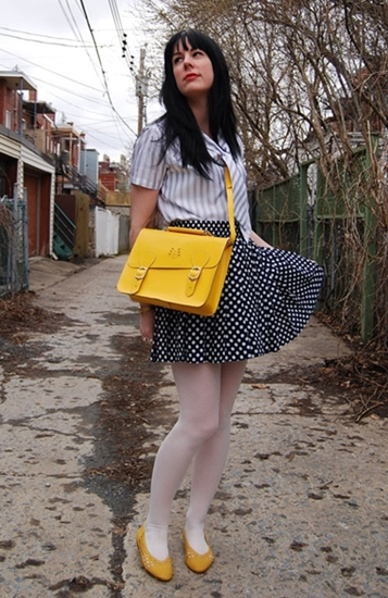 creative fashionista3 vintage polka dot skirt