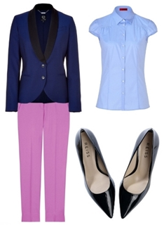 Colorblock Royal Blue Blazer