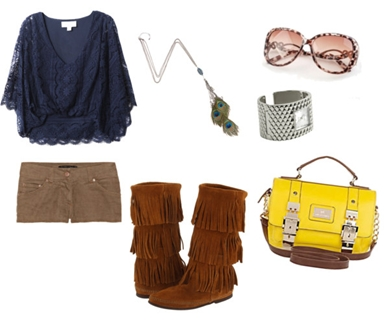 Eclectic Esther Fringe Boots Outfit