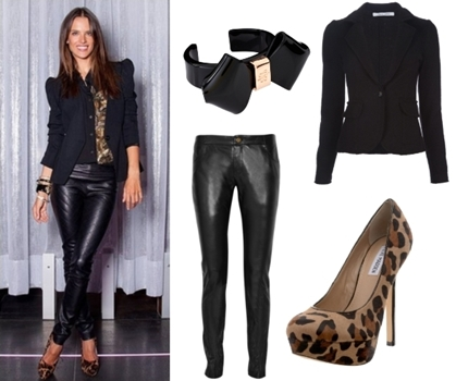 How Alessandra Ambrosio Wears Leopard Print Shoes