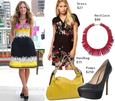 How Sarah Jessica Parker Wears Printed Dress