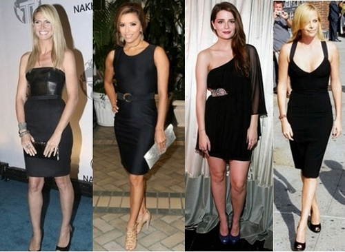 How celebrities wear little black dress