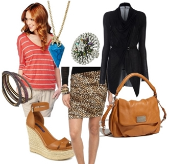 How to Wear Leopard Print Skirt to Work