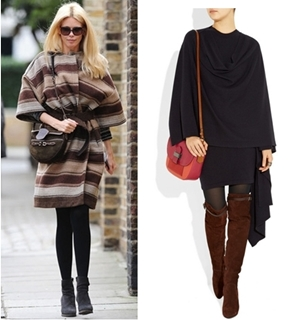 How to Wear Poncho as Coat in Spring