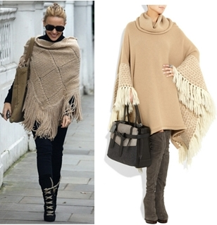 How to Wear Poncho in Winter