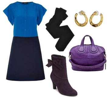 How to Wear Purple Ankle Boots to Work