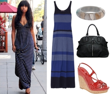 Jennifer Hudson Casual Outfit with Maxi Dress