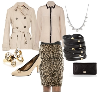 Leopard Skirt - Classic Office Look