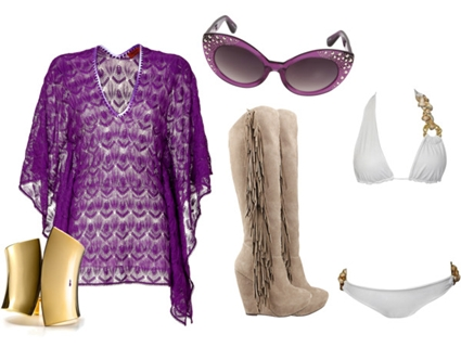 Resort Season Fringe Boots Outfit