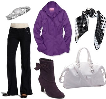 Work Outfit for Women with Ankle Boots