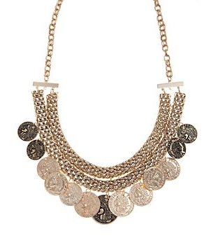 Gold Beaded Collar Necklace