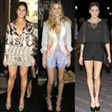 How Celebrities Wear Dressy Shorts