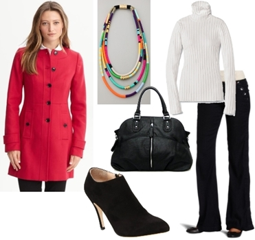 How to Wear Coat - Office Chic