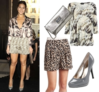 Wear Dressy Shorts with Clashed prints