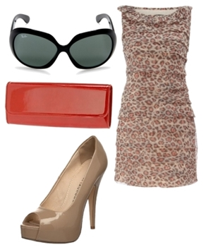 how to wear leopard layer dress