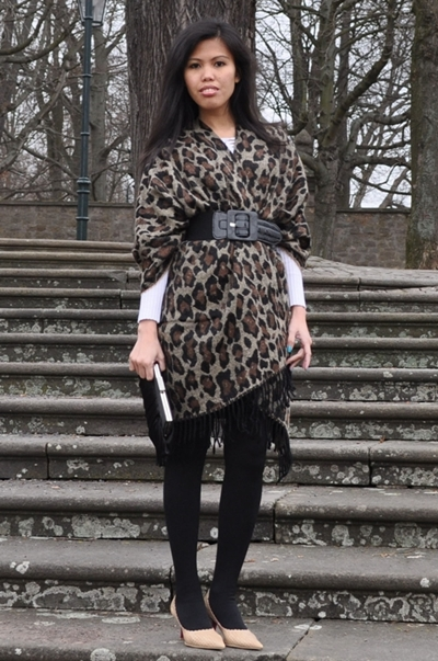 leopard print cape poncho for spring