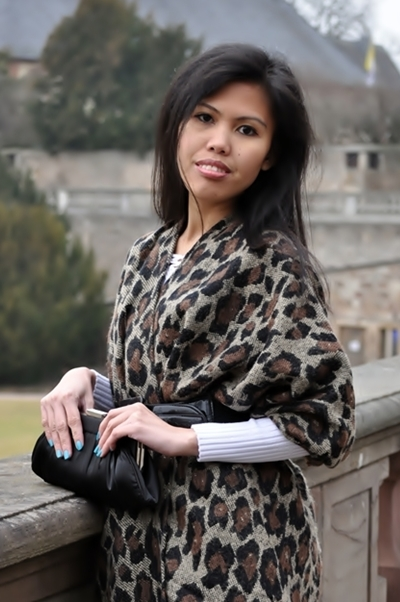 leopard print cape poncho