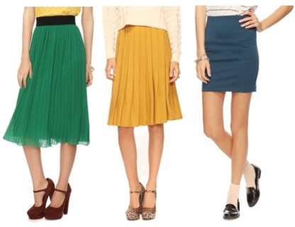 skirts - fashion tip for petite women